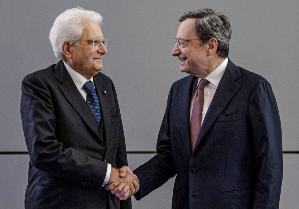 Mario Draghi e Mattarella